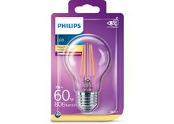 PHILIPS LED Filament 60W E27 WW A60CL ND Žiarovka