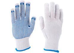 """Extol Craft 99708 Bavlnené rukavice s PVC terčíkmi na dlani, veľkosť 10"""""""