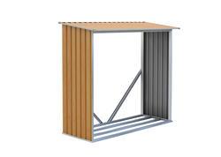 G21 Prístrešok na drevo WOH 136 - 182 x 75 cm, hnedý