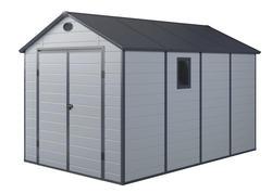 G21 Záhradný domček PAH 882 - 241 x 366 cm, plastový, svetlo šedý