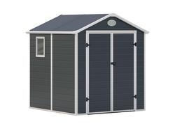 G21 Záhradný domček PAH 357 - 188 x 190 cm, plastový, šedý