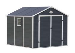 G21 Záhradný domček PAH 670 - 241 x 278 cm, plastový, šedý