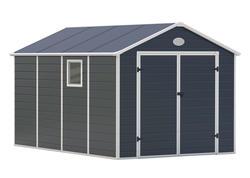 G21 Záhradný domček PAH 882 - 241 x 366 cm, plastový, šedý