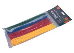 Extol Premium 8856196 Pásky sťahovacie farebné 3,6x200mm, 100ks