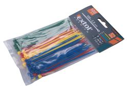Extol Premium 8856192 Pásky sťahovacie farebné 2,5x100mm, 100ks