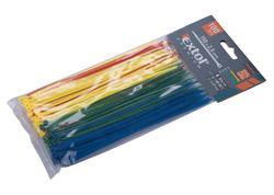 Extol Premium 8856194 Pásky sťahovacie farebné 2,5x150mm, 100ks