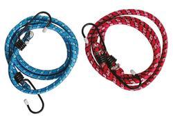 Extol Craft 96012 Popruhy elastické s hákmi, 2-dielna sada, 120cm