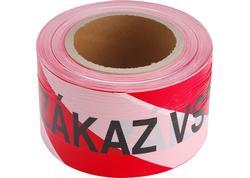 Extol Craft 9568 Páska ZÁKAZ VSTUPU červeno-biela, 75mm x 250m