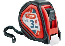 Extol Premium 8821023 Meter zvinovací, pogumovaný, 1x brzda, 3m, šírka pásu 19mm