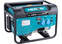 Heron Elektrocentrála rámová benzínová 230V, 2,8kW, 6,5HP 8896416