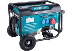 Heron Elektrocentrála rámová benzínová 400V/230V, 6,8kW/5,5kW, 15HP 8896418