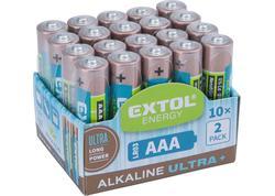 Extol Energy 42012 Batéria alkalická 20ks, 1,5V, typ AAA