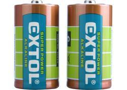 Extol Energy 42014 Batéria alkalická 2ks, 1,5V, typ C, LR14
