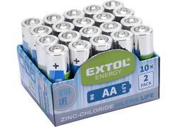 Extol Energy 42003 Batéria zink-chloridová 20ks, 1,5V, typ AA
