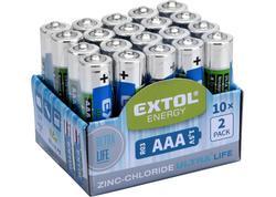 Extol Energy 42002 Batéria zink-chloridová 20ks, 1,5V, typ AAA