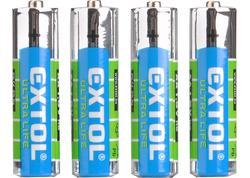 Extol Energy 42001 Batéria zink-chloridová 4ks, 1,5V, typ AA