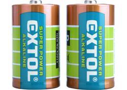 Extol Energy 42015 Batéria alkalická 2ks, 1,5V, typ D, LR20
