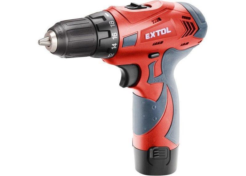 Extol Premium 8891151 Aku skrutkovač LI 12CDB, 2 batérie 12V Li-ion 1,5Ah, kufor
