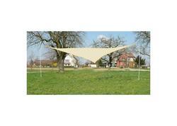 DEMA 41045D Trojuholníková tieniaca plachta proti slnku 5 m, krémová