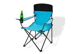 DEMA 94053D Kempingová / záhradná stolička skladacia, azúrová