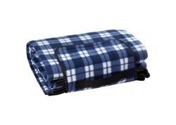 DEMA 94026D Plážová / pikniková deka 190x130 cm Acryl-Fleece, modrá
