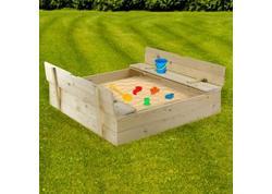 DEMA 17016D Drevené pieskovisko s lavičkami 120x120 cm