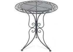 DEMA 94102D Záhradný stôl kovový 60 cm Provence, sivý