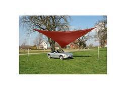 DEMA 43200D Trojuholníková tieniaca plachta proti slnku 5 m, červená