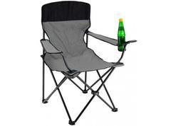 DEMA 94052D Kempingová / záhradná stolička skladacia, šedá