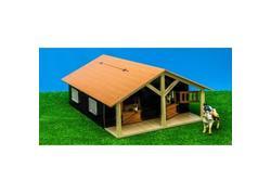 DEMA 12431D Kids Globe Drevená stodola so stajňami pre kone 1:24