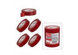 DEMA 22260D Elektrikárska izolačná páska 15mm / 10 m, červená, 5 ks
