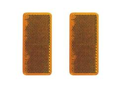 DEMA 69097D Odrazka oranžová samolepiaca 95x38 mm, 2 ks