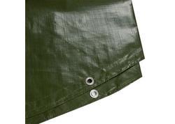 DEMA 24720D Nepremokavá plachta zakrývacia kruh 5 m 210 g/m2, zelená