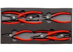 Knipex 002001V02 Sada precíznych segerových klieští 6 dielna