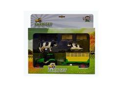 DEMA 12284D Kids Globe Traktor s vlečkou, kravičkami a poľnohospodárskym príslušenstvom
