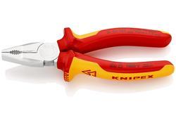 """Knipex 0106160 Kliešte kombinované """"chrom"""" 160mm VDE 1000V"""