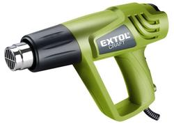 Extol Craft 411023 Teplovzdušná pištoľ s nadstavcami v kufri 2 000 W