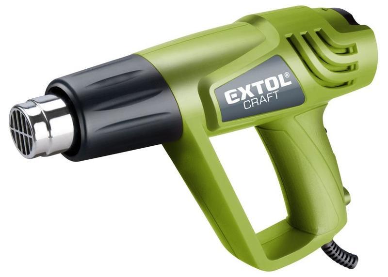 Extol Craft Teplovzdušná pištoľ s nadstavcami v kufri 2 000 W 411023