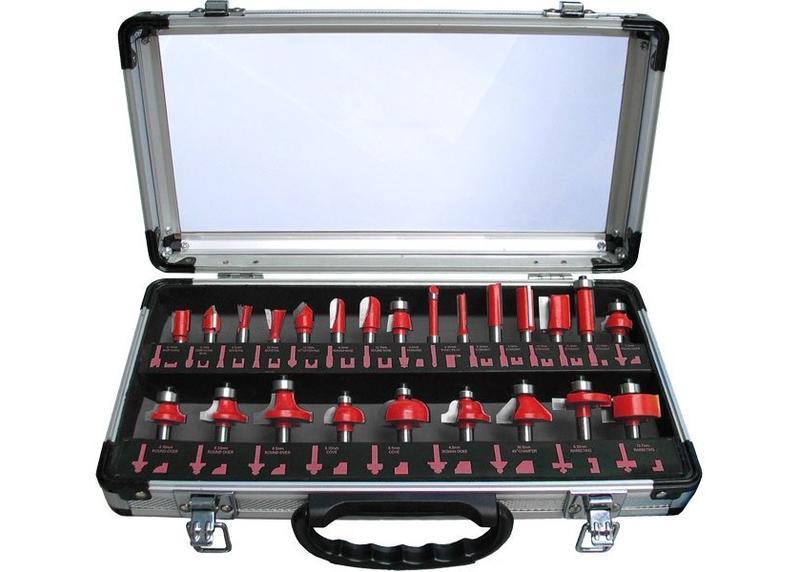 Extol Craft  Profilové frézy HSS 24-dielna sada, s SK plátkami 44039