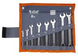 Extol Premium 6319 Kľúče očko-vidlicové 8-dielna sada