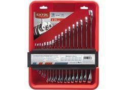 Extol Premium 6351 Kľúče očko-vidlicové, sada 18 ks, CrV