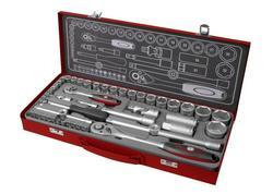 Fortum 4700002 Sada 50-dielna nástrčných a zástrčných kľúčov