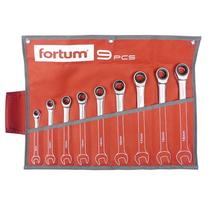 Fortum 4720104 Kľúče račňové očkoploché, sada 9 ks