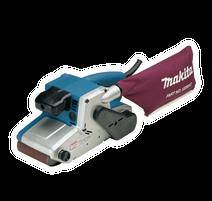 Makita 9404J Pásová brúska pre profesionálne nasadenie s elektronickou reguláciou rýchlosti pásu