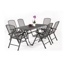 MWH Bášáne 6+ Zostava nábytku z ťahokovu (6x pol. Kreslo Savoy Basic, 1x stôl Universal 160)