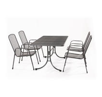 MWH Bani 4+ Zostava nábytku z ťahokovu (4x stolička Savoy Basic, 1x stôl Universal 145)