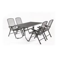 MWH Bášáne 4+ Zostava nábytku z ťahokovu (4x pol. Kreslo Savoy Basic, 1x stôl Universal 160)