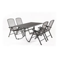 MWH Basani 4+/sestava nábytku z tahokovu (4x pol. křeslo Savoy Basic, 1x stůl Universal 160)