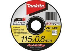 Makita B-45727 Rezný kotúč železo/nerez 115x0,8x22