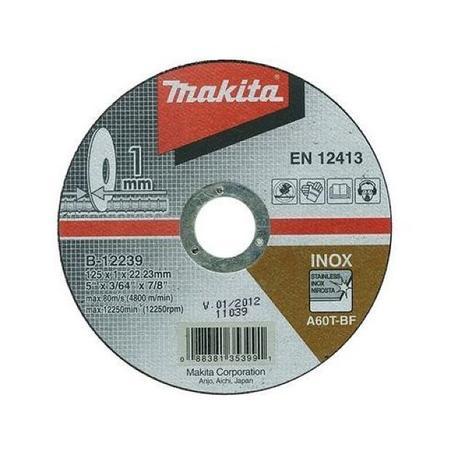 Makita B-12239 Rezný kotúč Ø125 x 1,0 x 22mm